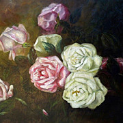 19th Century Roses Oil Painting