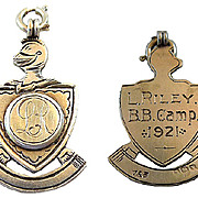 Sterling Silver British Camp Medal Dated 1921