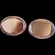 SALE Vintage Signed Avon Gold-Filled Oval Cufflinks