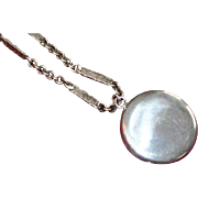 Fabulous Round Vintage Silver Locket on Chain
