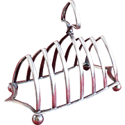 Antique Victorian Sterling Toast Rack Hallmarked Jonathan Howell London, C1895