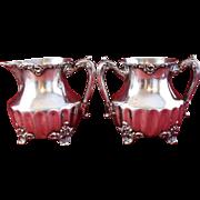 Antique Silver Sugar and Creamer Set Adelphi Silver Plate Co., New York