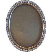 SOLD Vintage Miniature Crystal Oval Picture Frame