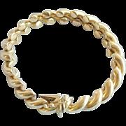 Vintage 14K Gold Italian San Marco Link Bracelet Signed DG