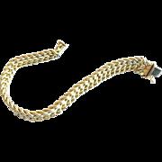 Vintage Italian 14K Double Curb Link Bracelet Marked AH