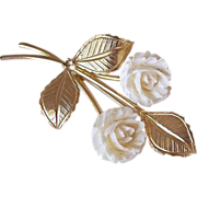 SALE Double Rosettes Bouquet Brooch Pin