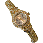 Embassy Rhinestone Quartz Bracelet Watch Working