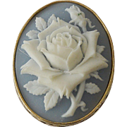 White Rose Cameo Scarf Holder Avon NR Nina Ricci