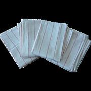 Eight Vintage Cotton Kitchen Towels Various Patterns