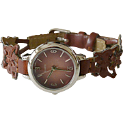 Quartz Ladies Watch Bicast Leather Band Working