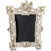 SOLD Victorian Picture Frame with Cherub Angel & Lyre