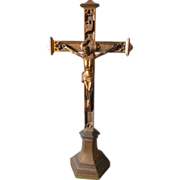 Antique Ecclesiastical Christianity Cross or Crucifix