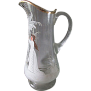 Victorian Lemonade, Water Pitcher Mary Gregory Enamel