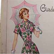 Original c1950s Fashion Illustration for Advertising, Magazine