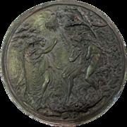 19thC French Ecclesiastical Plaque of Angel, Adam & Eve