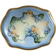 Lovely Edwardian Hand Painted French Limoges, Perfume Tray