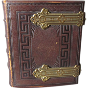 c1870s Tooled Leather CDV Photograph Album, Providence RI Family
