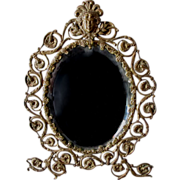Victorian, Art Nouveau Picture Frame, Mirror with Ladies Face