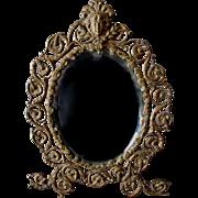 Victorian, Art Nouveau Picture Frame, Mirror with Ladies Face