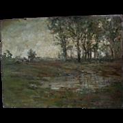 SALE PENDING Lovely Impressionist Landscape Oil Painting, Signed Crane