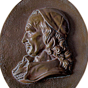 Antique Plaque of French Nobleman, Cardinal Richelieu