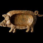 SOLD c1920s Bronze Figural Boar, Pig  Desk Accessory,  Tray