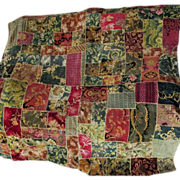 SOLD Lovely c1880-1890s Victorian Velvet Crazy Quilt Top Lovely Condition