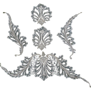 Set of Fine Antique European Lace Appliques