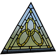 SOLD Antique Stained Glass Windows, Odd Fellows, Fraternal