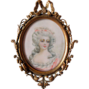 Antique Miniature Painting Madame de Montesson