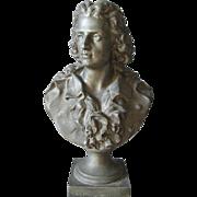 Antique Victorian Bust, Sculpture of a Johann von Schiller