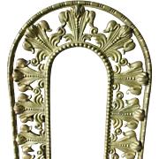 19thC French Fleur de Lis Bronze Picture or Mirror Frame
