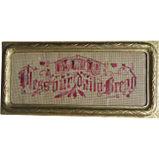 c1880s Victorian Motto Sampler, God Bless Our Daily Bread