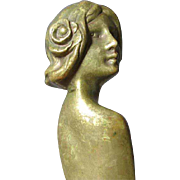 Lovely Art Nouveau Figural Lady Bronze Letter Opener