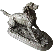 SALE PENDING 19thC Sculpture of a Spaniel, Hunting Dog