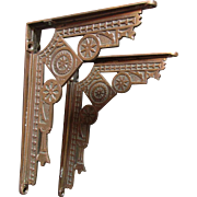 SOLD 19thC Victorian Aesthetic Cast Iron Architectural Brackets