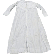c1880s Ladies Victorian White Nightgown with Pleats & Eyelet Lace