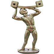SOLD Cool Vintage Art Deco Sign, Mirror or Display Stand Figural Man