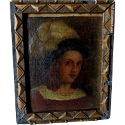 SOLD Antique Miniature Oil Painting of a Gentleman, Old Master Style