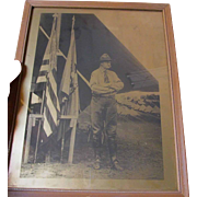 New York Military, Civil War GAR, Boy Scout Gold Orotone Photograph