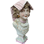 Lovely Antique Victorian Bisque Bust of a Beautiful Lady