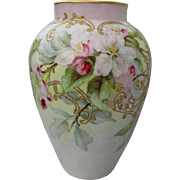 Lovely Antique Hand Painted Vase, Delinieres & Cie Limoges, France