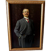 c1904 Oil Painting of a Distinguished Gentleman, Signed