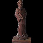 Mid Century Modern Carved Asian Man by Yasha Heifetz