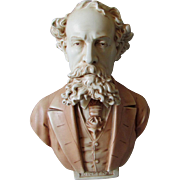 Nice Antique Bust of English Writer Charles Dickens
