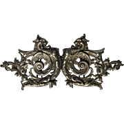 SOLD Antique Victorian Sterling Silver with Gothic Gargoyle, Dragon