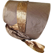 SOLD Lovely c1860-70s Victorian Ladies Silk Bonnet, Millinery Hat
