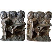 c1927 Charles Lindbergh Spirit of St Louis Airplane Bookends