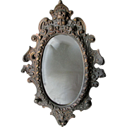 SOLD Lovely 19thC Victorian Wall Mirror with a Cherub Angel Face