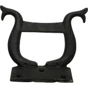 SOLD Antique Cast Iron Boot Scraper with Whales or Fish, Architectural or Garden